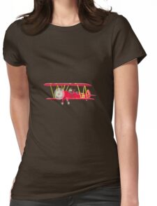 Big City Vehicles - Squirrel Pilot Flying Airplane Womens Fitted T-Shirt