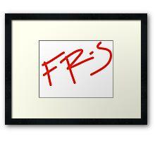 FR-S Fonts  Framed Print