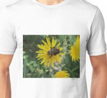 Bee on Flower Macro Unisex T-Shirt