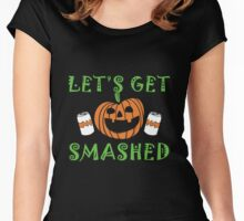 Halloween Shirt - LET'S GET SMASHED Women's Fitted Scoop T-Shirt