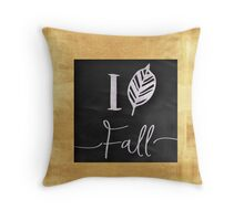 I love fall.gold,silver,black,typography,cool text,modern,trendy Throw Pillow