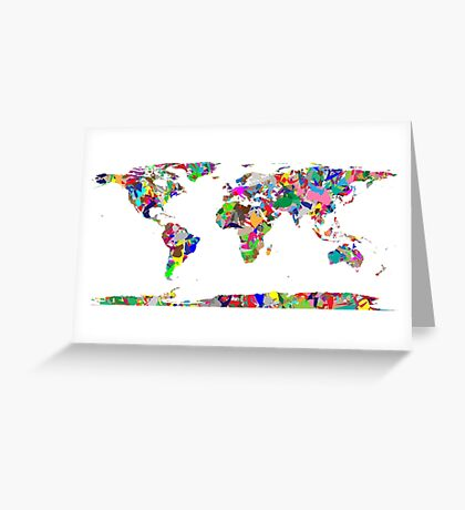 Modern art earth Greeting Card