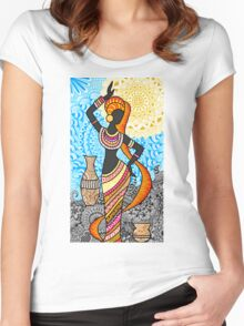 Dancing with the wind Women's Fitted Scoop T-Shirt