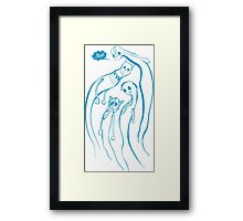 In the company of aliens Framed Print