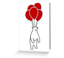 Polar Bear and Balloons  Greeting Card