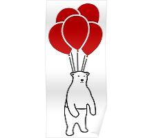 Polar Bear and Balloons  Poster