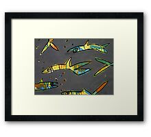 Grey Water - Bright Fish Framed Print