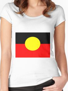 Aboriginal Flag Women's Fitted Scoop T-Shirt
