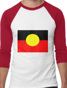 Aboriginal Flag Men's Baseball ¾ T-Shirt