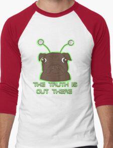 The Pug Files- black fur Men's Baseball ¾ T-Shirt