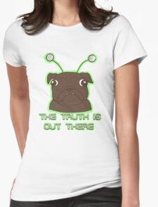 The Pug Files- black fur Womens Fitted T-Shirt