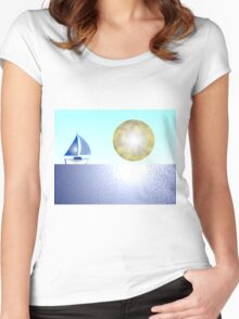 Sail Boat iPhone / Samsung Galaxy Case Women's Fitted Scoop T-Shirt