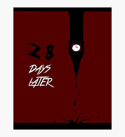28 Days Later minimalist poster Photographic Print