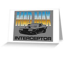 MAD MAX - INTERCEPTOR (MIRROR) Greeting Card