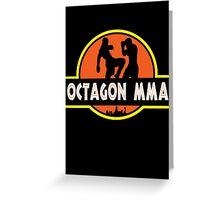 Octagon MMA Jurassic Fighting Greeting Card
