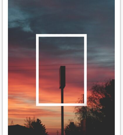 The 1975 Sunset Rectangle Sticker