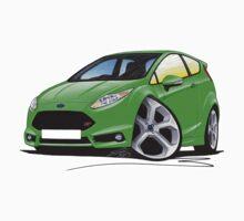 Ford Fiesta (Mk7) ST Green Kids Tee