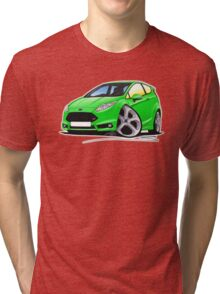 Ford Fiesta (Mk7) ST Green Tri-blend T-Shirt