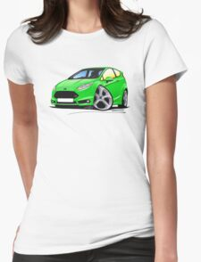 Ford Fiesta (Mk7) ST Green Womens Fitted T-Shirt