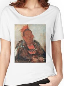Wah-ro-née-sah (The Surrounder) Chief of the Otoe tribe. Women's Relaxed Fit T-Shirt