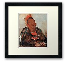 Wah-ro-née-sah (The Surrounder) Chief of the Otoe tribe. Framed Print