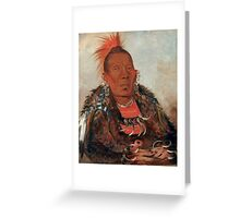 Wah-ro-née-sah (The Surrounder) Chief of the Otoe tribe. Greeting Card