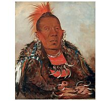 Wah-ro-née-sah (The Surrounder) Chief of the Otoe tribe. Photographic Print