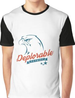 Deplorable Patriot Eagle Graphic T-Shirt
