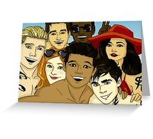 The Shadowsquad at the beach Greeting Card