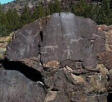 Petroglyphs - Picture Rock Pass, Lake County, OR by Rebel Kreklow