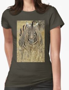 Zebra - African Wildlife - Laboring Pregnancy  Womens Fitted T-Shirt