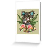 Tubby Tiki Rat Greeting Card