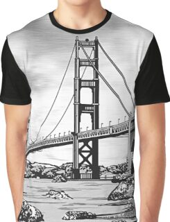 San Francisco Golden Gate Bridge Graphic T-Shirt