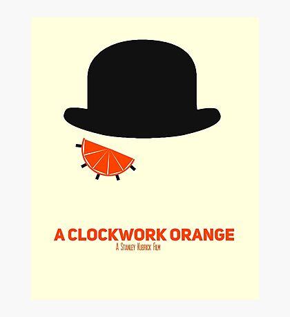 A Clockwork Orange minimalist poster Photographic Print