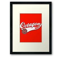 Octagon Baseball Logo Framed Print