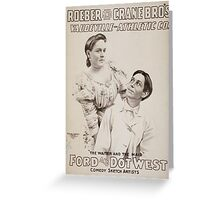 Performing Arts Posters Roeber and Crane Bro's Vaudeville Athletic Co 0364 Greeting Card