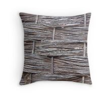 Fence at Hatfield House, Hertfordshire Throw Pillow