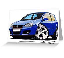 VW Golf (Mk5) GTi Blue Greeting Card