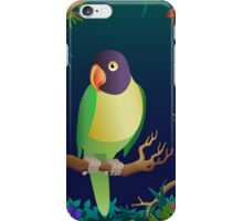 green lovebird iPhone Case/Skin