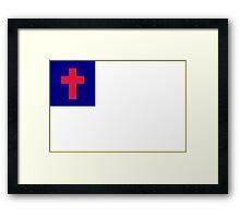 Christian Flag Framed Print