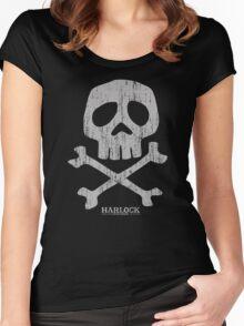 Captain Harlock Skull Women's Fitted Scoop T-Shirt
