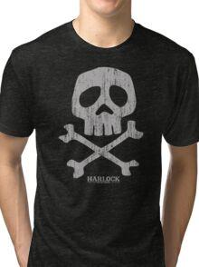 Captain Harlock Skull Tri-blend T-Shirt