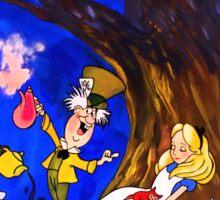 Alice In Wonderland On Canvas Sticker