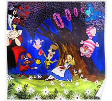 Alice In Wonderland On Canvas Poster