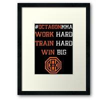Octagon MMA Hashtag Logo Framed Print