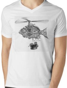 Weebits Flying Fish Excursion Mens V-Neck T-Shirt