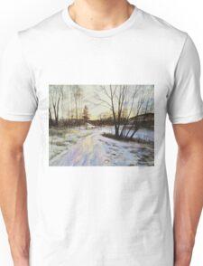 Sunset Reflections On Ice Unisex T-Shirt