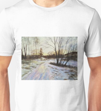 Sunset Reflections On Ice Unisex T-Shirt