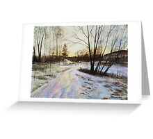 Sunset Reflections On Ice Greeting Card
