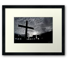 Roman Colosseum Cross Framed Print
